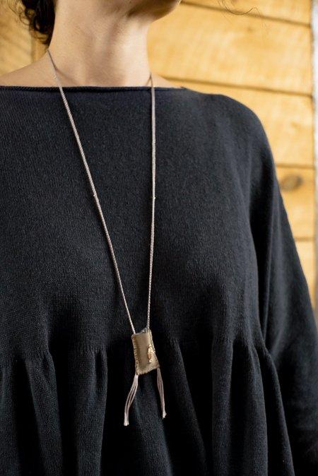 Feathered Souls Prayer Hamsa Necklace