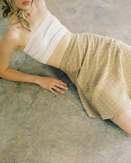 Maria Stanley hutson skirt - mushroom dot