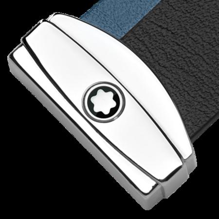 Montblanc Meisterstuck Key Fob Stripes Key Ring - Black/Navy