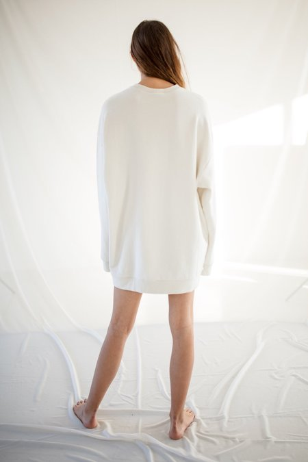 Unisex Can Pep Rey Japanese Cotton Classic Sweater - Off White