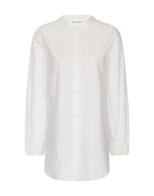 Apiece Apart Augustina White Collarless Shirt