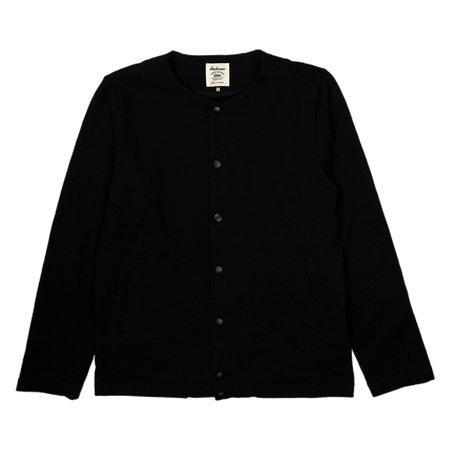 Jackman Collarless Jacket - Black