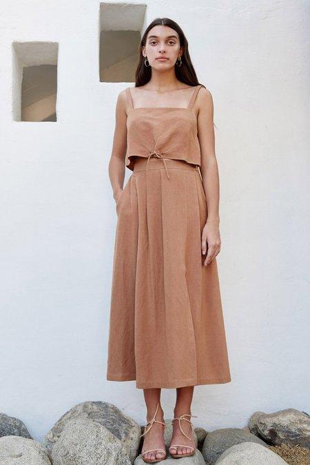 First Rite Sahara Pleated Skirt - sahara