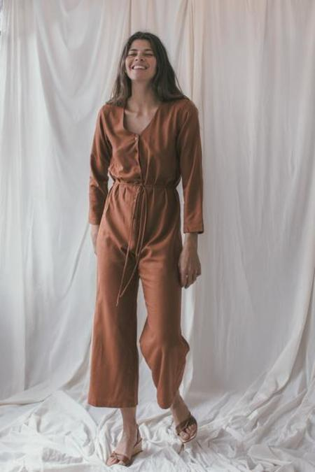Ozma L/S Silk Noil Cypress Playsuit