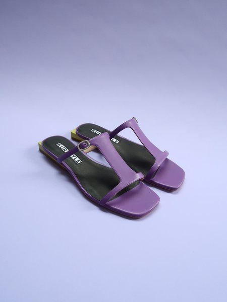 Kurt Lyle Mimi Slide - Purple/Chartreuse