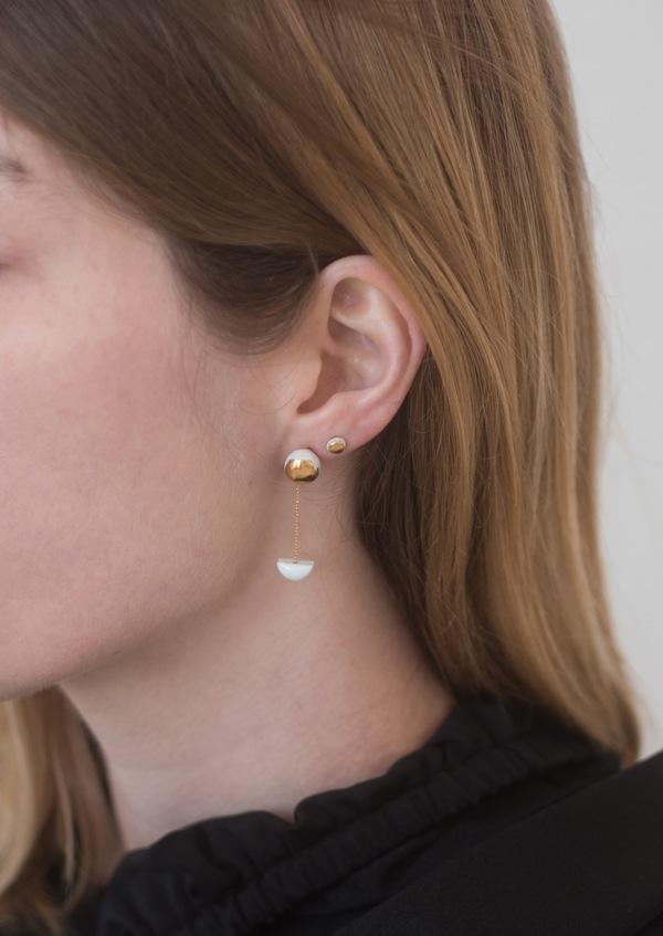 Jujumade pendant halfmoon earring