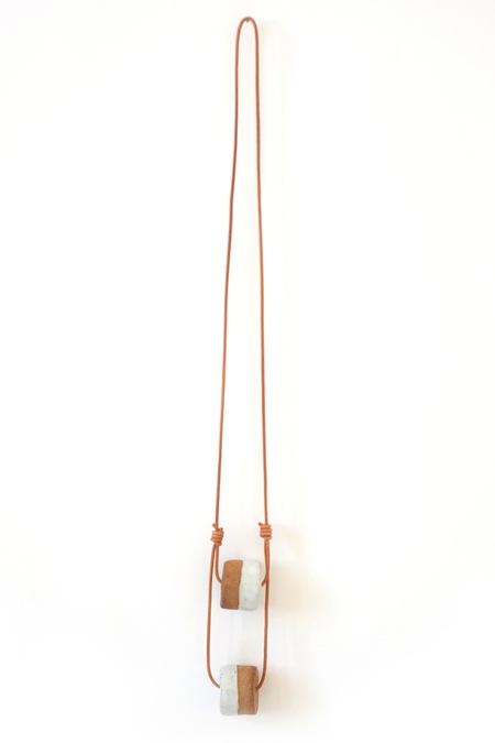 Jujumade double cylinder necklace