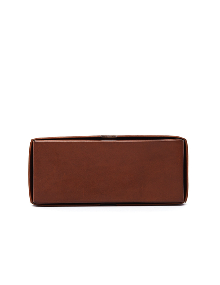 Isaac Reina Leather Pencil Box - Brown