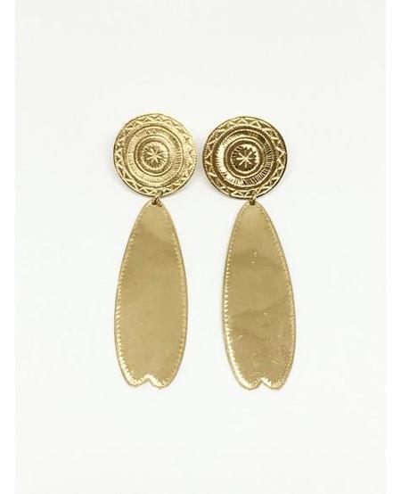 Ombre Claire Large Palmettes Vermeil Earrings