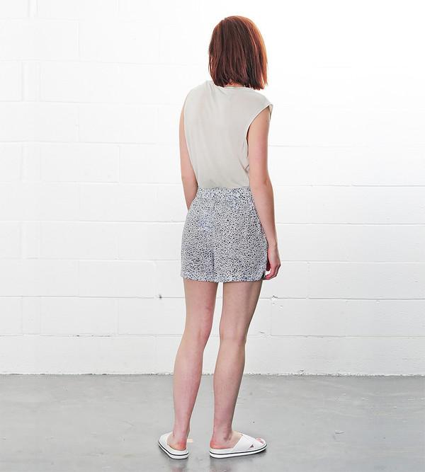 Ganni Speckles Lee Silk Shorts