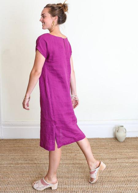 Gravel & Gold Forti Sunset Dress - deep fuchsia