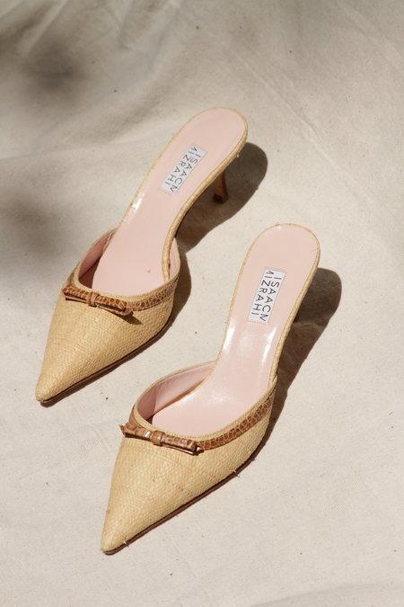 Isaac Mizrahi Vintage Basket Weave Heel