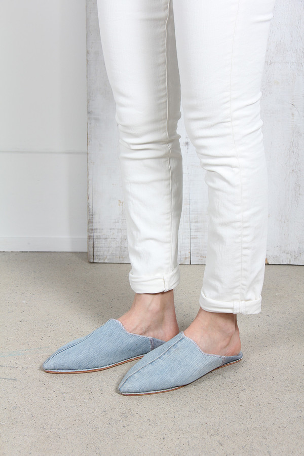 BROTHER VELLIES DENIM BABOUCHE