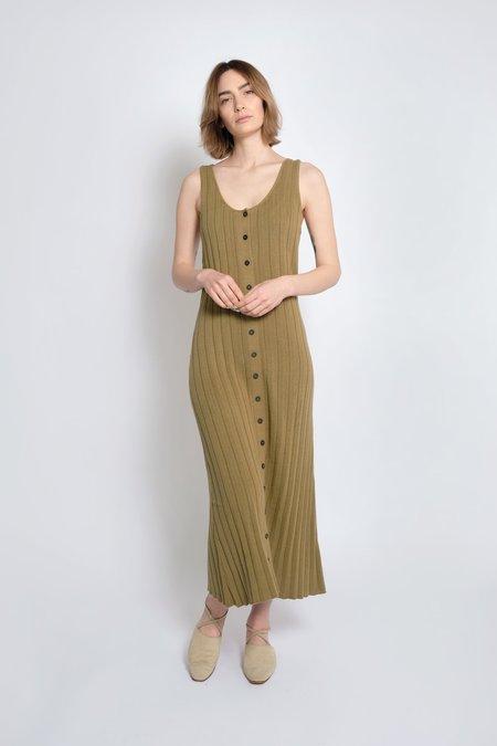 Micaela Greg Accordion Pleat Dress - Juniper