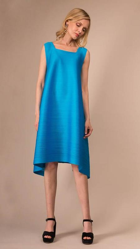Issey Miyake Pleats Please Sail Bounce Dress - Aqua