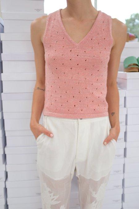 Beklina Baranca Knit Tank Top - Glitter