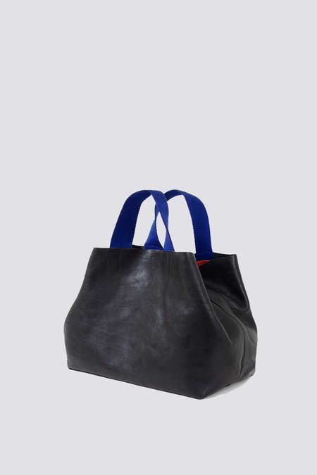 Clare V. Leather Bateau Tote - black rustic