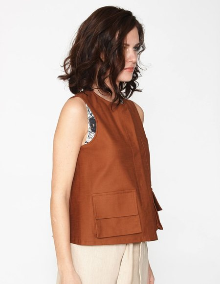 Shosh Pocket Top - Sienna
