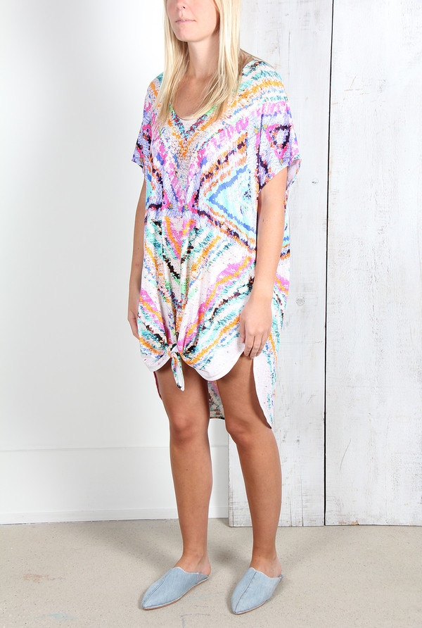 MARA HOFFMAN RAINBOW CAFTAN WITH SLITS