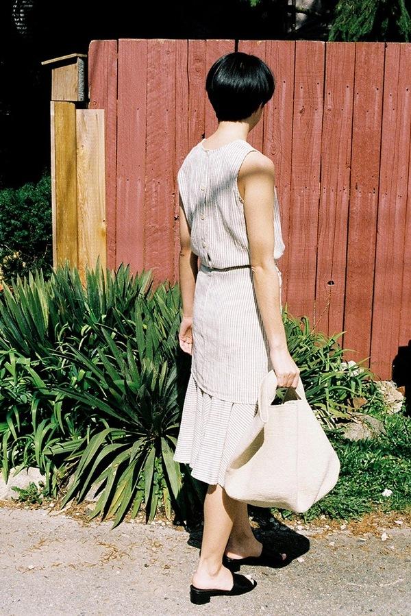 Caron Callahan Marianne Dress - cream/black