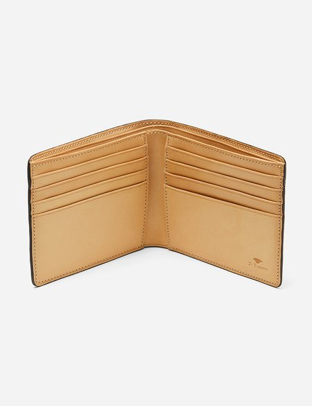 Il Bussetto Bi-Fold Wallet (Leather) - Black