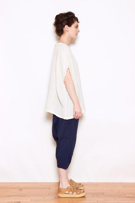 Black Crane Double Gauze Shirt - Cream