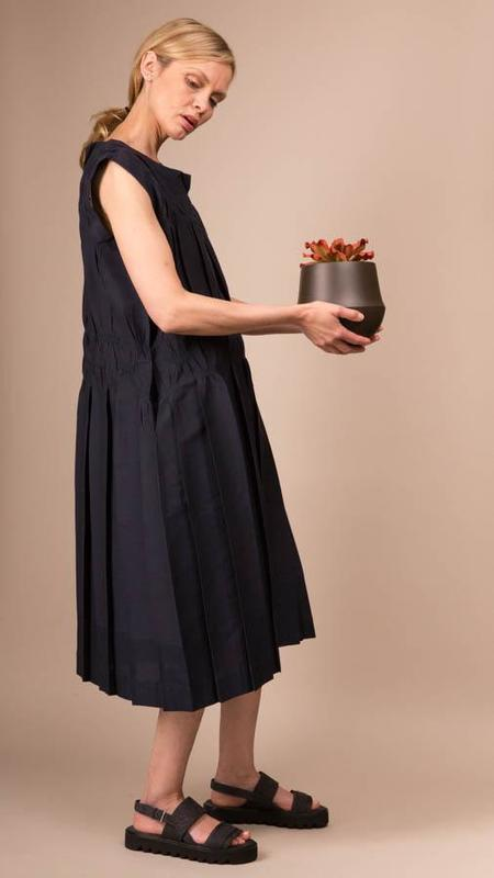 Issey Miyake Smoking Stretch Dress - Navy