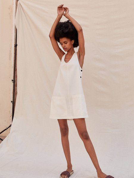 Sugar Candy Mountain The Emily Utility Mini Dress - Cream