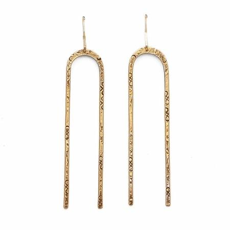 From the Reliquary Arch Earrings - Brass