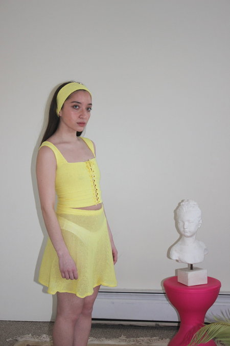 Pearle Knits Top - Lemon