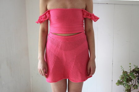Pearle Knits Betrothed Skirt - Pitaya