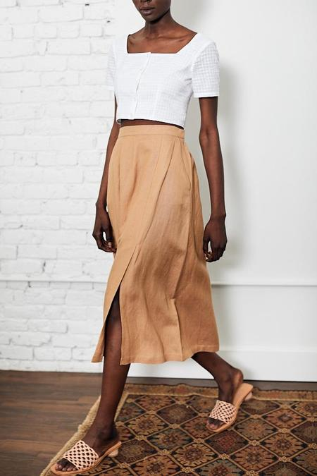 First Rite Pleated Skirt - Camel