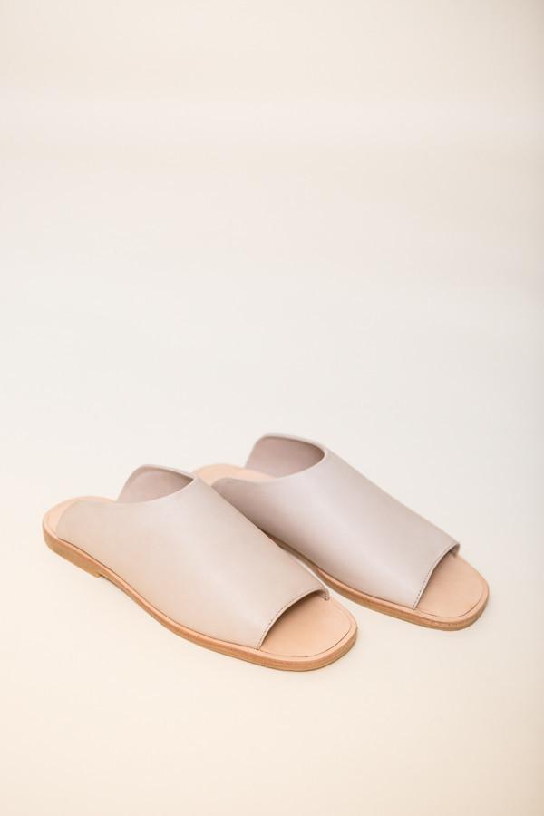 St. Agni Hina Modern Slides / Nude Leather