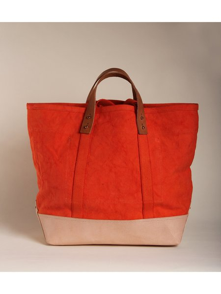 IMMODEST COTTON East West Bucket Tote - Persimmon