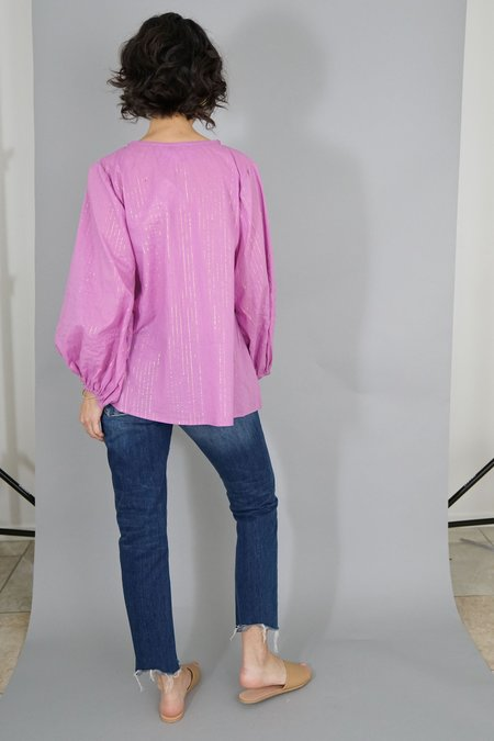 Emerson Fry Bardot Top - Pink Lurex