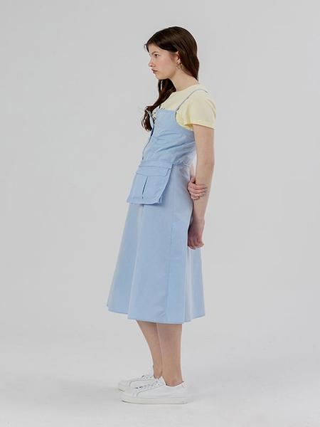 DESSERT Sleeve Shirt Dress Bag Set - Sky Blue