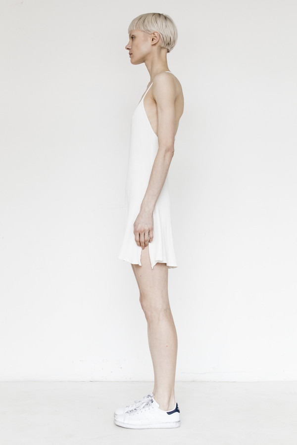 Assembly Cotton Ribbed Camisole - White