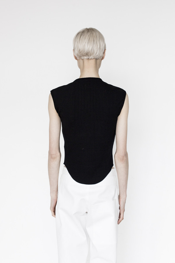 Assembly Cotton Ribbed Muscle T - Black