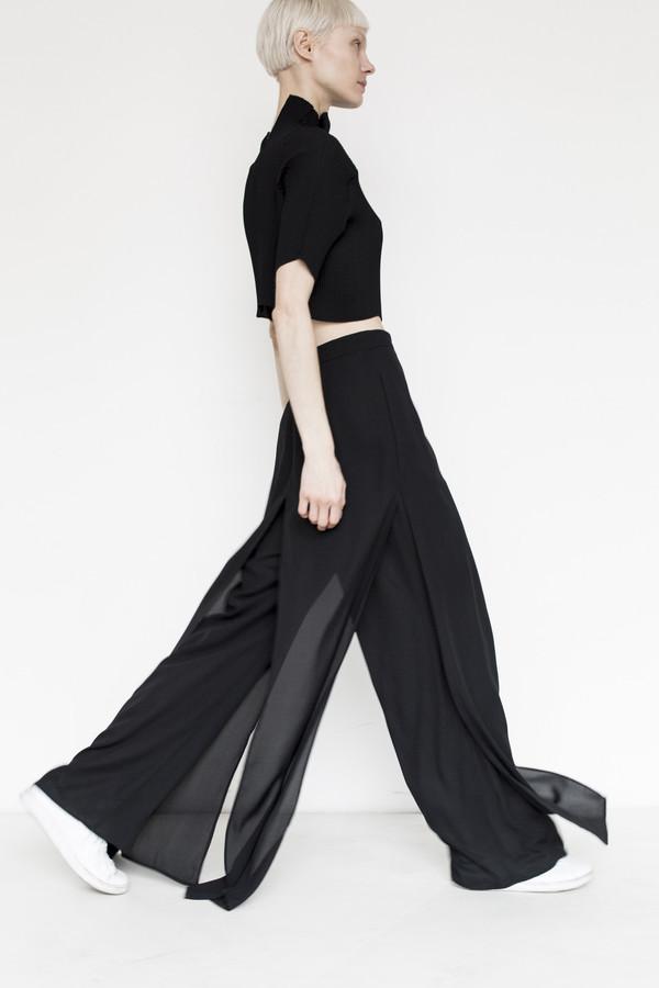 Kallmeyer Polyester Slit Layered Pant