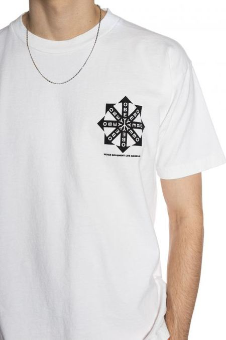 Obey Peace Movement Tee - White