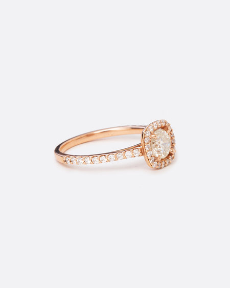 Love Adorned Vintage Halo Diamond Engagement Ring - Rose Gold