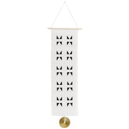 Sidai Designs Long Triangle Wall Hanging - Black/White