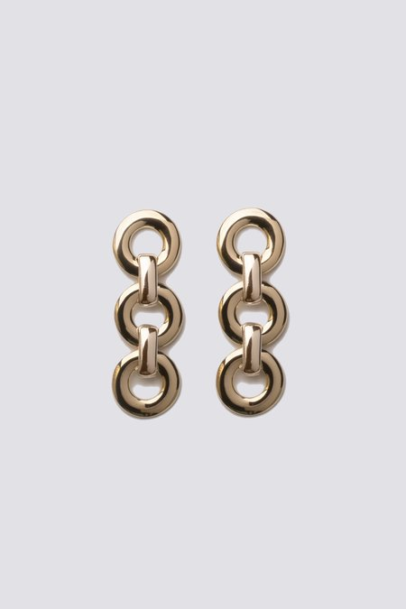 Alta Ora Small Circle Drop Earrings - Gold