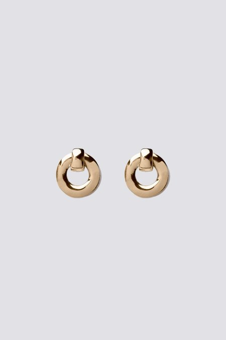 Alta Ora Small O Curve Earrings - Gold
