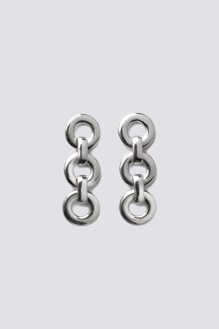 Alta Ora Small Circle Drop Earrings - Silver