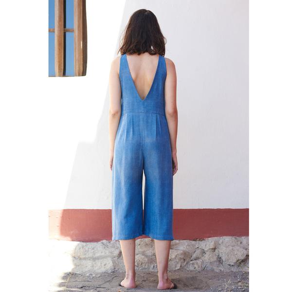 First Rite Crop Pantsuit Denim