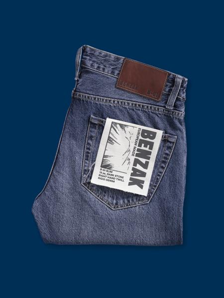 Benzak B-01 Slim Denim Jeans - Dark Stone