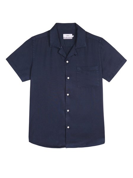 Wax London Fazely Short Sleeve Shirt - Navy