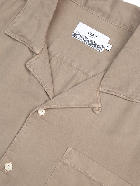 Wax London Fazely Short Sleeve Shirt - Sand