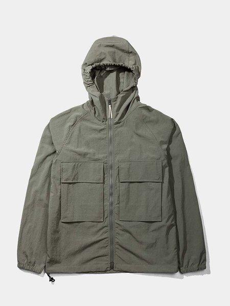 Native North Hooded Windbreaker Jacket - Olive